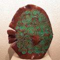 Poisson spirales brun-bordeau-turquoise